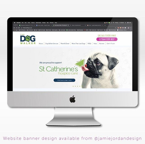 St Catherines | The Dog Walker Web Banner Designs