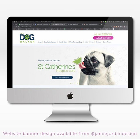 St Catherines | The Dog Walker Web Banner Designs