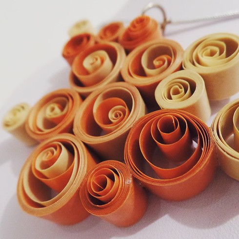 Handmade Quilled Necklace