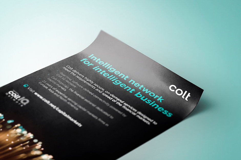 Colt Technology Services Poster Flyer