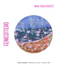 Maria Teresa Protettì - Vita tra le dune - Polimaterico su tela - cm 80ø - 2021