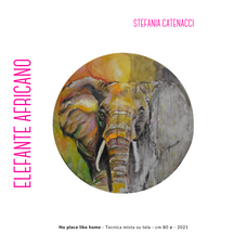Stefania Catenacci - No place like home - Tecnica mista su tela - cm 80 ø - 2021