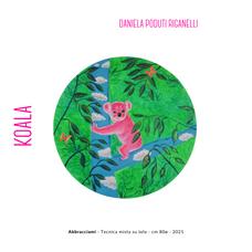 Daniela Poduti Riganelli - Abbracciami - Tecnica mista su tela - cm 80ø - 2021