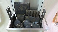 Clean pots and pans