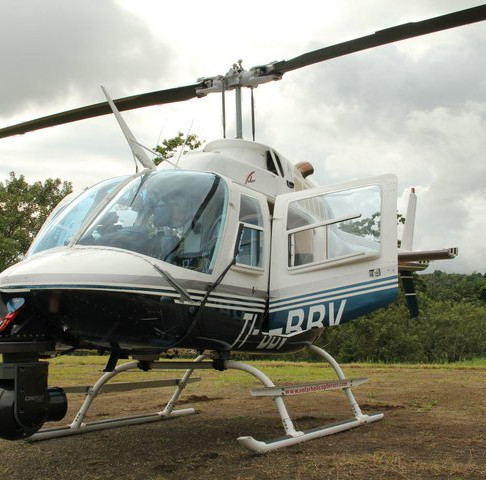 Bell 206 with Cineflex for the shoot