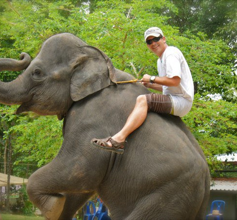That time I got to ride an elephant in T