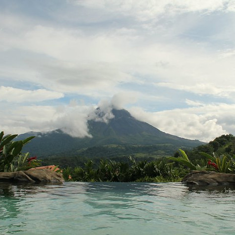 Volcano from the pool shot