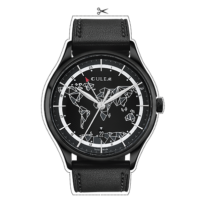 frame black TIO Culem watches luxury dual time travel gmt independent watchmaker kickstarter