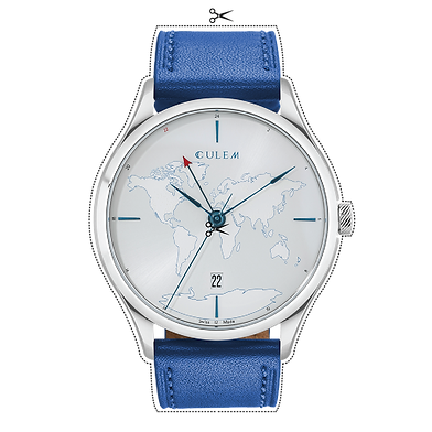 Culem watches luxury dual time travel gmt independent watchmaker kickstarter blue lights tio
