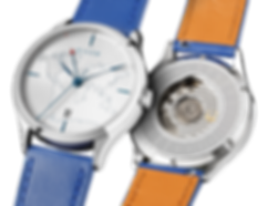 Culem watches luxury dual time travel gmt independent watchmaker kickstarter blue lights mix