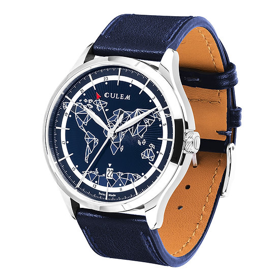 The frame blue side view navy blue strap
