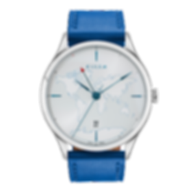 Culem watches luxury dual time travel gmt independent watchmaker kickstarter frame blue.png