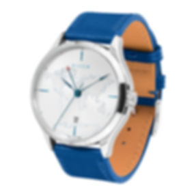 Culem watches luxury dual time travel gmt independent watchmaker kickstarter blue lights 1