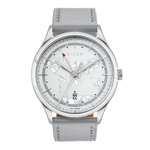 Culem watches luxury dual time travel gmt independent watchmaker kickstarter grey frame