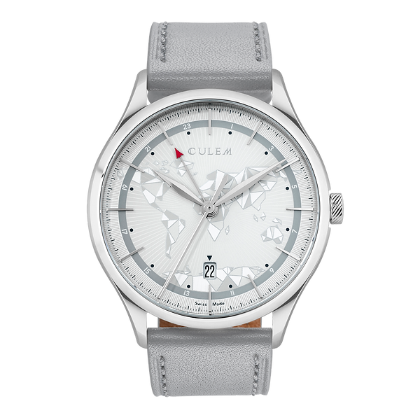 Culem watches the ultimate luxury swiss made travel watches -  the frame grey edition