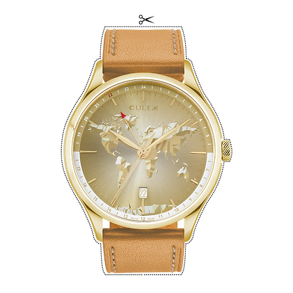 Culem watches luxury dual time travel gmt independent watchmaker kickstarter gold portal tio
