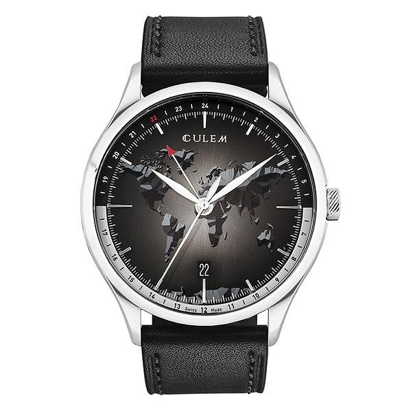 the portal steel black front culem watch