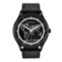 Culem watches luxury dual time travel gmt independent watchmaker kickstarter black frame front