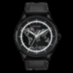 Culem watches luxury dual time travel gmt independent watchmaker kickstarter black frame front