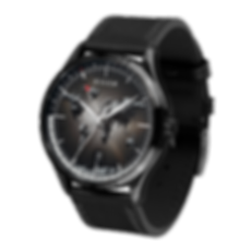 Culem watches luxury dual time travel gmt independent watchmaker kickstarter black portal side view