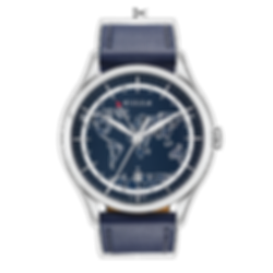 blue frame TIO Culem watches luxury dual time travel gmt independent watchmaker kickstarter