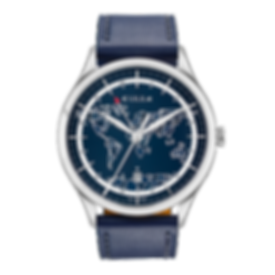blue frame Culem watches luxury dual time travel gmt independent watchmaker kickstarter
