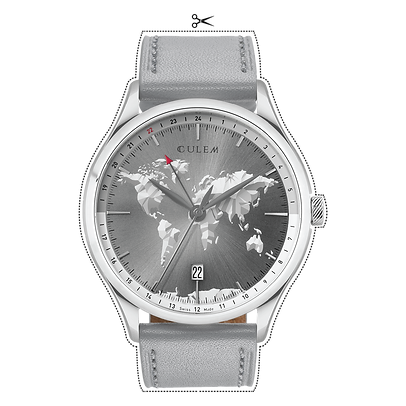 Culem watches luxury dual time travel gmt independent watchmaker kickstarter grey portal tio