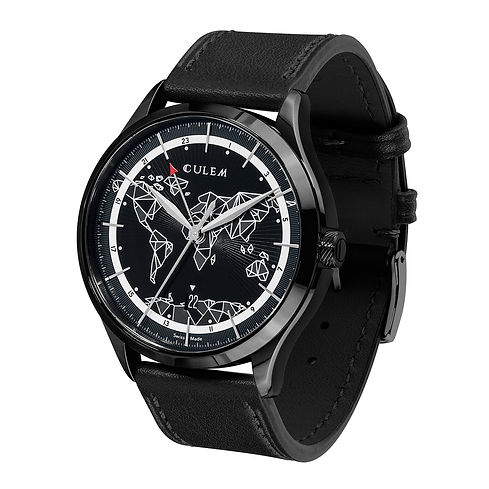 Culem watches the ultimate luxury swiss made travel watches - the frame black edition