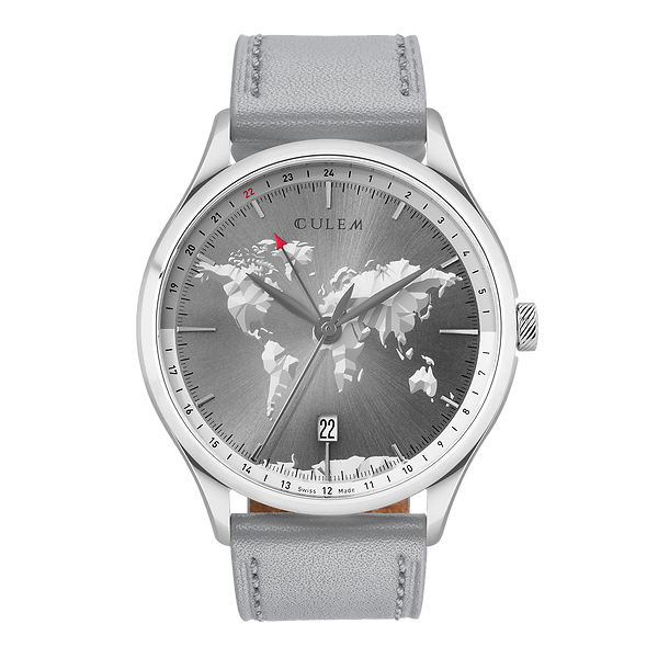 Culem Watches GMT Travel grey dual time