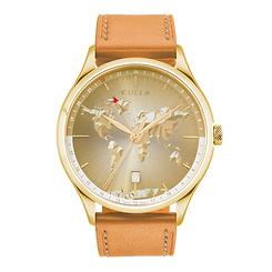 Culem watches the ultimate luxury swiss made travel watches - The Portal Gold Edition