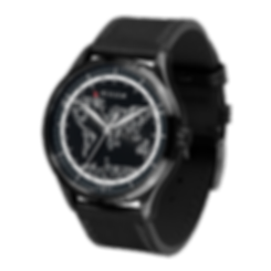 Culem watches luxury dual time travel gmt independent watchmaker kickstarter black frame side view