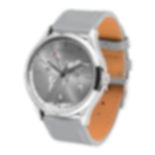 Culem watches luxury dual time travel gmt independent watchmaker kickstarter grey portal side view