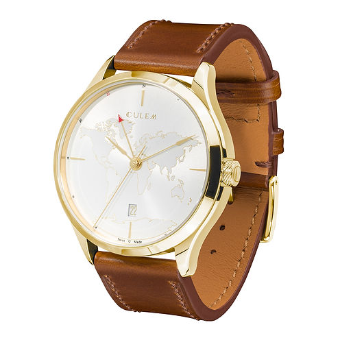 Culem watches luxury dual time travel gmt independent watchmaker kickstarter gold sides 2