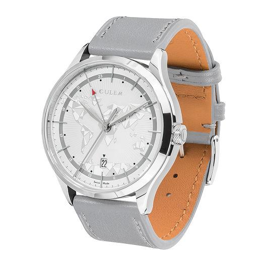 Culem watches luxury dual time travel gmt independent watchmaker kickstarter grey frame side 1
