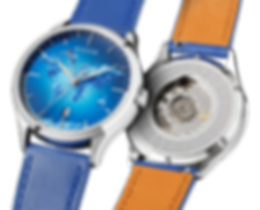 Blue portal mix zoom Culem watches luxury dual time travel gmt independent watchmaker kickstarter