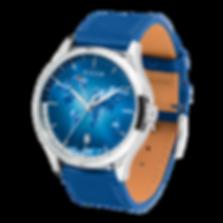 Culem watches luxury dual time travel gmt independent watchmaker kickstarter blue portal side vie