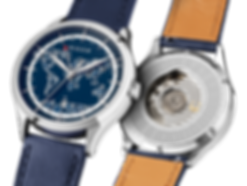 Culem watches luxury dual time travel gmt independent watchmaker kickstarter blue frame mix