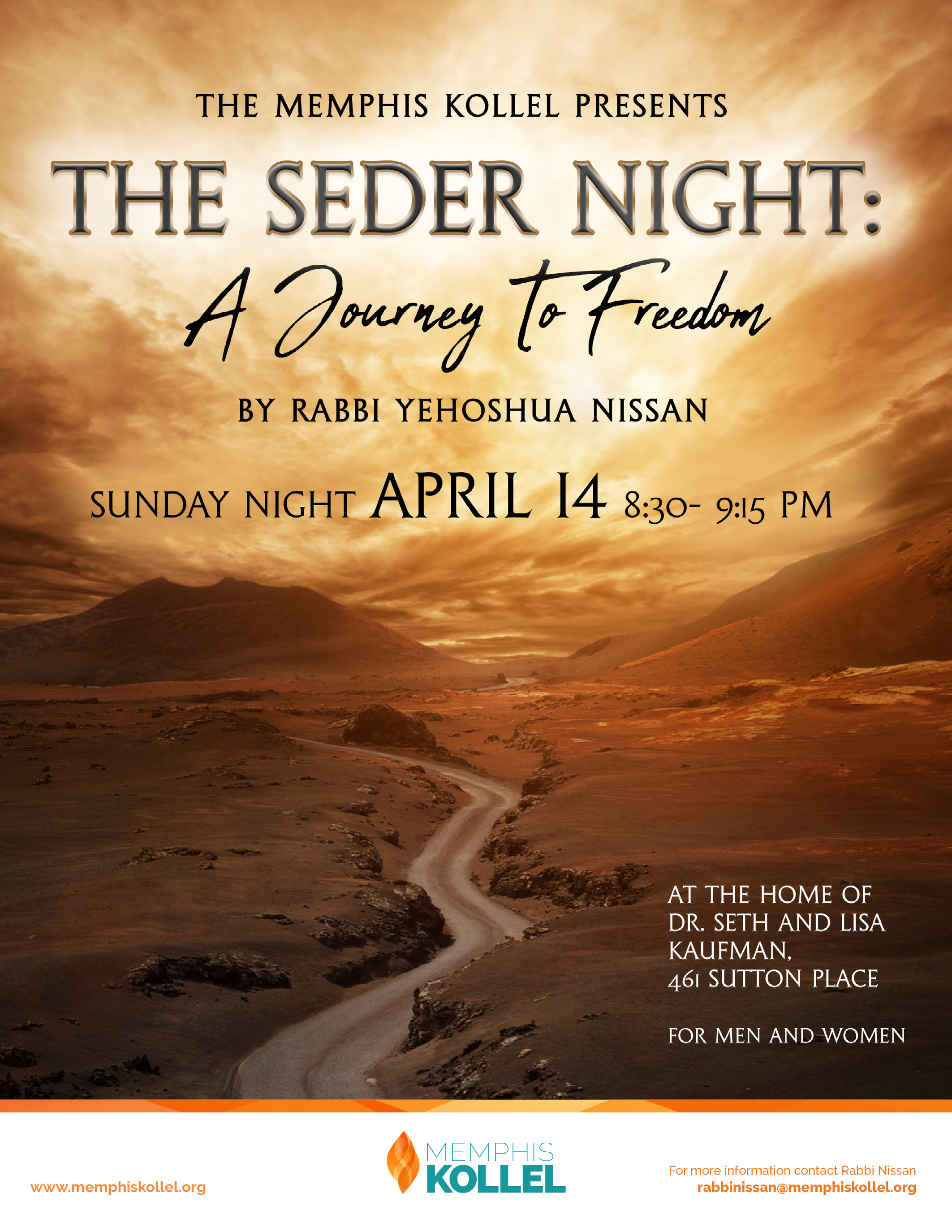 seder night flyer