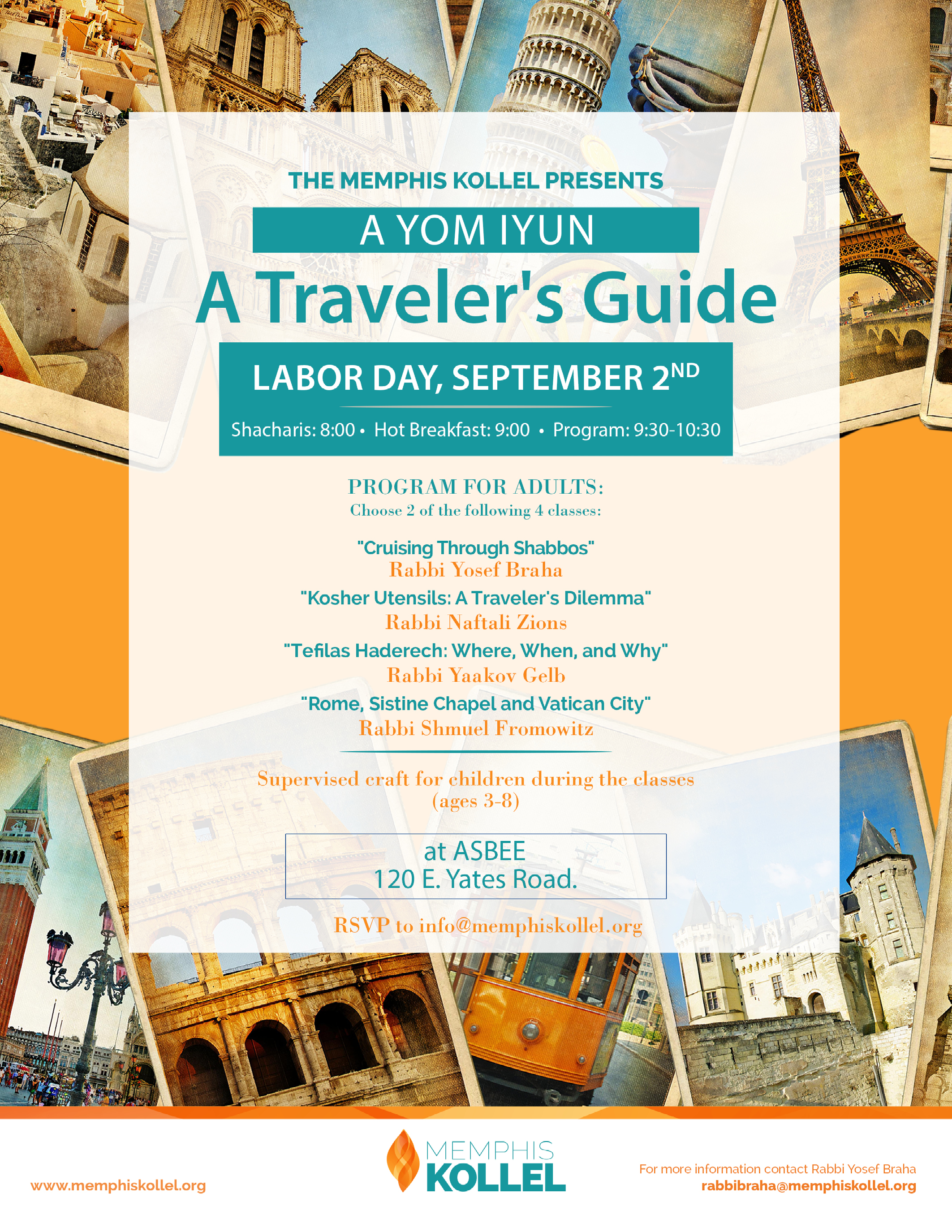 yom iyun travel flyer