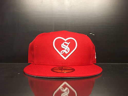 Supreme New Era Heart Hat