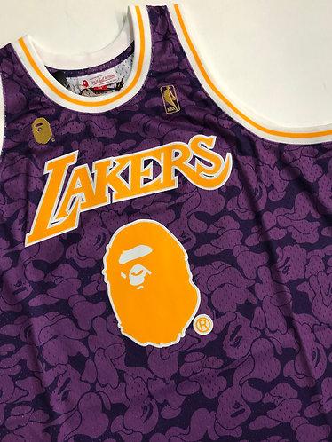BAPE Mitchell & Ness Lakers Swingman Jersey Sz XL