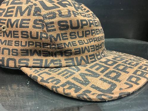 Supreme SS18 Repeater Camp Cap - Brown
