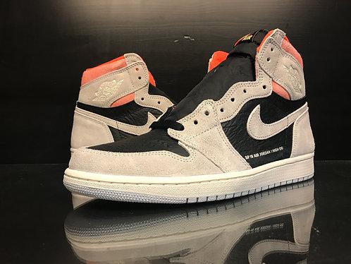"Air Jordan 1 ""Neutral Grey/Crimson"" - Sz 10"