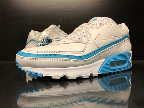 Nike Air Max 90 Undefeated Wht Blue Fury Sz 8.5