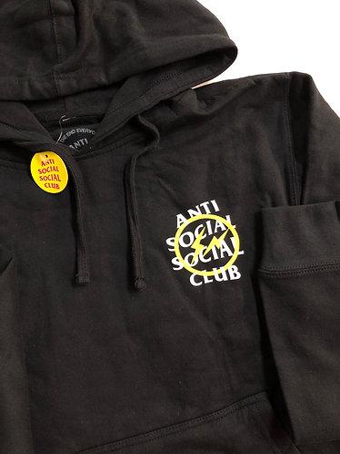 ASSC X Frag Yellow Bolt Hoodie - Sz S