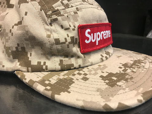 Supreme FW17 Nyco Twill Camp Cap - Tan Digi