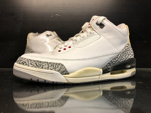 Air Jordan White Cement 3 III - Sz 9