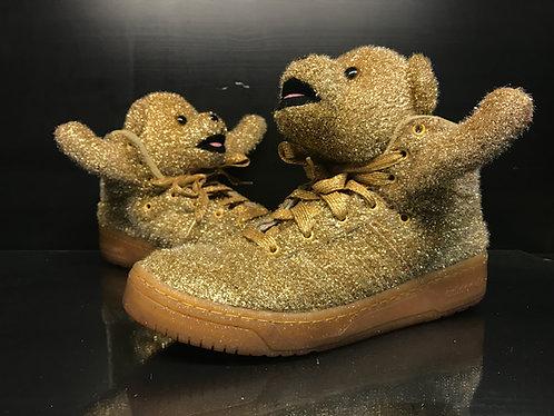 Jeremey Scott X Adidas Tinsel Bear Gold - 10.5