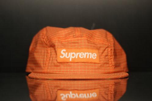 Orange Grid Camp Hat