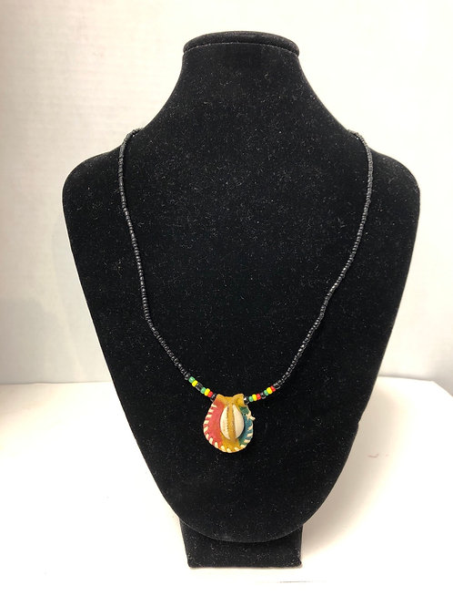 Cowrie Shell Necklace (Red, Yellow, Green)